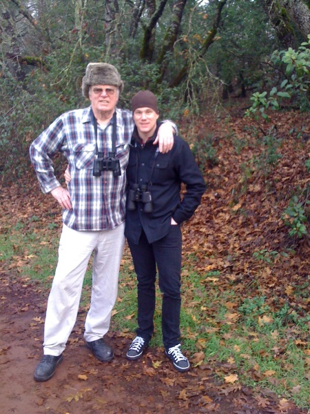 Big Dave and Barton Out birdwatching