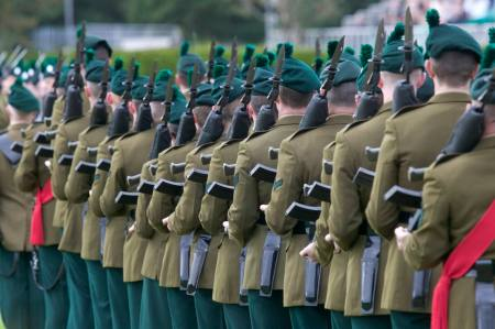 Soldiers of the Royal Irish Regiment on Parade